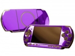 Sony PSP 3000 Skin :: Purple Chrome