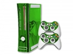 Microsoft Xbox 360 Skin :: Lime Green Chrome