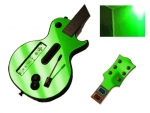 Guitar Hero 3 Les Paul Guitar for the Nintendo Wii Skin :: Lime Green Chrome