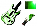 Guitar Hero 5 Genericaster Guitar for the Wii Skin :: Lime Green Chrome