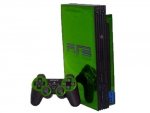 Sony PlayStation 2 Skin :: Lime Green Chrome