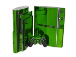 Sony PlayStation 3 Skin :: Lime Green Chrome
