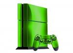 Sony PlayStation 4 Skin :: Lime Green Chrome
