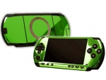 Sony PSP Skin :: Lime Green Chrome