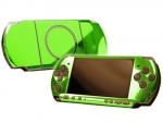 Sony PSP 3000 Skin :: Lime Green Chrome