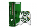 Microsoft Xbox 360 Skin :: Green Chrome