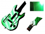 Guitar Hero 5 Genericaster Guitar for the Wii Skin :: Green Chrome