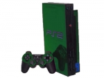 Sony PlayStation 2 Skin :: Green Chrome