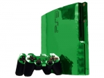 Sony PlayStation 3 Slim Skin :: Green Chrome