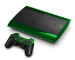 Sony PlayStation 3 Super Slim Skin :: Green Chrome