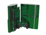 Sony PlayStation 3 Skin :: Green Chrome
