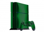 Sony PlayStation 4 Skin :: Green Chrome