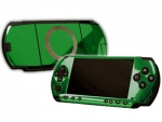 Sony PSP Skin :: Green Chrome