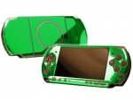 Sony PSP 3000 Skin :: Green Chrome