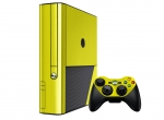 Microsoft Xbox 360 (3rd Gen) Skin :: Yellow Chrome