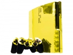 Sony PlayStation 3 Slim Skin :: Yellow Chrome