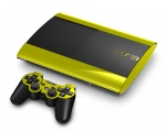 Sony PlayStation 3 Super Slim Skin :: Yellow Chrome