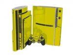 Sony PlayStation 3 Skin :: Yellow Chrome
