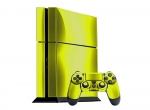 Sony PlayStation 4 Skin :: Yellow Chrome