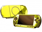 Sony PSP 3000 Skin :: Yellow Chrome