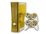 Microsoft Xbox 360 Skin :: Gold Chrome