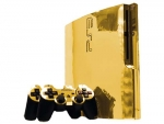 Sony PlayStation 3 Slim Skin :: Gold Chrome