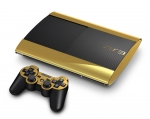 Sony PlayStation 3 Super Slim Skin :: Gold Chrome