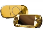 Sony PSP 3000 Skin :: Gold Chrome