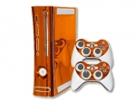 Microsoft Xbox 360 Skin :: Orange Chrome