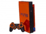 Sony PlayStation 2 Skin :: Orange Chrome