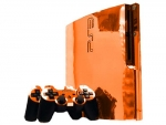 Sony PlayStation 3 Slim Skin :: Orange Chrome