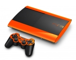Sony PlayStation 3 Super Slim Skin :: Orange Chrome