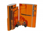 Sony PlayStation 3 Skin :: Orange Chrome