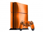 Sony PlayStation 4 Skin :: Orange Chrome