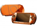 Sony PSP 3000 Skin :: Orange Chrome