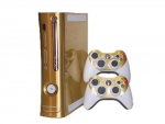 Microsoft Xbox 360 Skin :: Brushed Gold