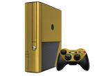 Microsoft Xbox 360 (3rd Gen) Skin :: Brushed Gold