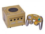 Nintendo GameCube Skin :: Brushed Gold