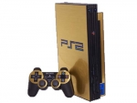 Sony PlayStation 2 Skin :: Brushed Gold