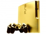 Sony PlayStation 3 Slim Skin :: Brushed Gold