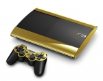 Sony PlayStation 3 Super Slim Skin :: Brushed Gold