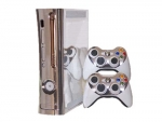 Microsoft Xbox 360 (1st Gen) Skin :: Brushed Silver