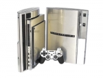 Sony PlayStation 3 Skin :: Brushed Silver