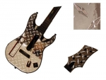 Guitar Hero 5 Genericaster Guitar for the Wii Skin :: Diamond Plate Silver