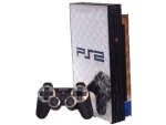 Sony PlayStation 2 Skin :: Diamond Plate Silver