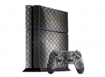 Sony PlayStation 4 Skin :: Diamond Plate Silver