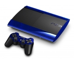 Sony PlayStation 3 Super Slim Skin :: Diamond Plate Blue