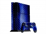 Sony PlayStation 4 Skin :: Diamond Plate Blue