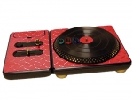 DJ Hero for the PS2, PS3, and 360 Skin :: Diamond Plate Red