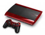 Sony PlayStation 3 Super Slim Skin :: Diamond Plate Red